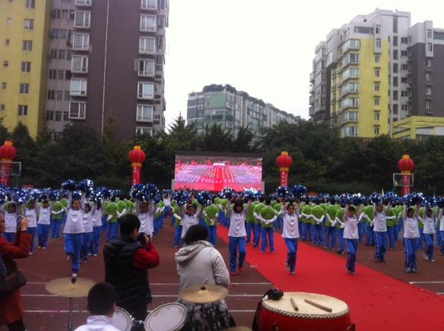 Chinesische Schüler in Reih und Glied
