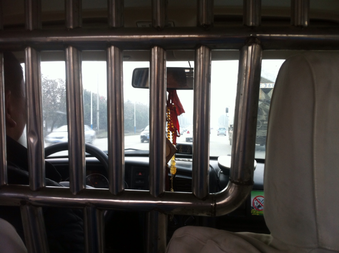 Blick aus Taxi