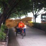 Dreirad China Straßenreinigung